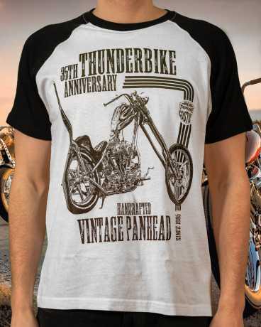Thunderbike Clothing Thunderbike T-Shirt 35th Anniversary weiß/schwarz  - 19-31-1322V
