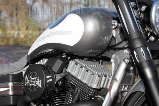 Thunderbike Rocker-Box- Set Ribbed alu black - 22-72-440