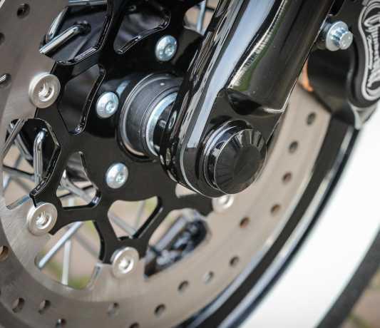 Thunderbike Vorder-Achscover Set schwarz - 22-74-170