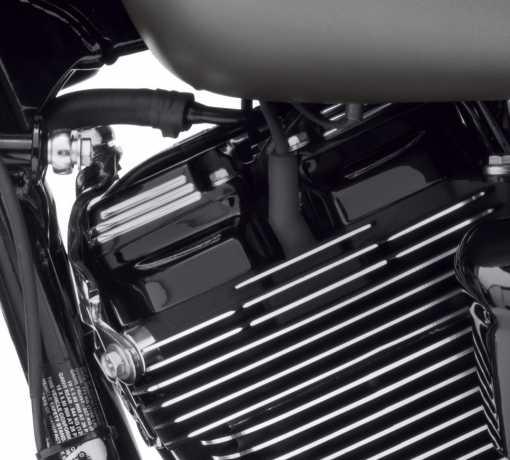 Harley-Davidson Defiance Upper Rocker Covers, black cut  - 25700604