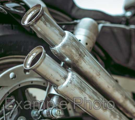 "Custom Chrome Trumpet Schalldämpfer 19"" Gerade  - 28-0904"