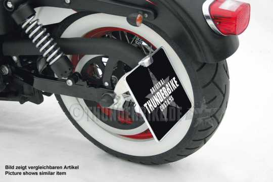 Thunderbike Side Mount Licence Plate Bracket long black matt - 28-70-461