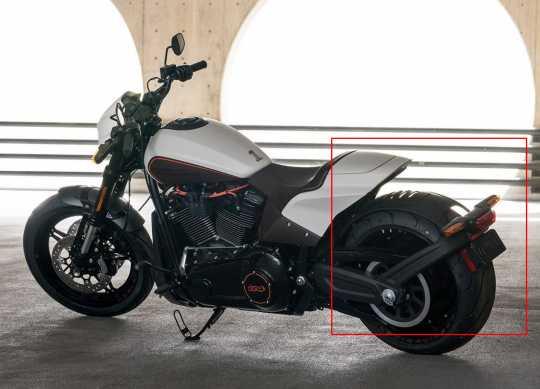 Thunderbike Down & Inside Halter Originalträger schwarz  - 28-74-160