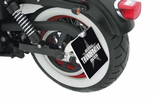 Thunderbike Seitlicher Kennzeichenhalter lang schwarz - 28-75-050