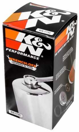 K&N K&N Performance Gold KN-173C Ölfilter, extra lang chrom  - 29-264