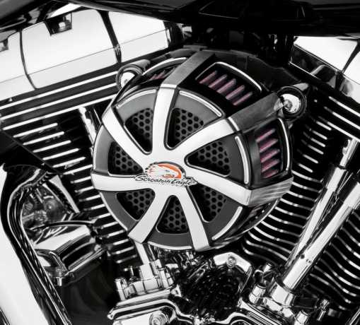 Harley-Davidson Screamin' Eagle Extreme Billet Air Cleaner Kit Agitator, cut back black  - 29400063