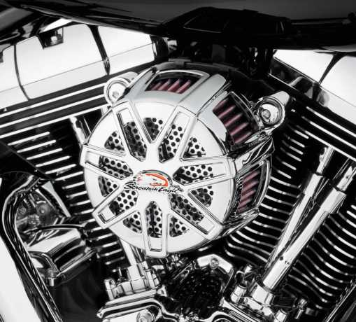 Harley-Davidson Screamin' Eagle Extreme Billet Air Cleaner Kit Chisel - Chrome  - 29400104
