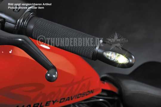 Thunderbike Toppers für Lenkerendenblinker Base Rubber Schwarz - 31-99-210