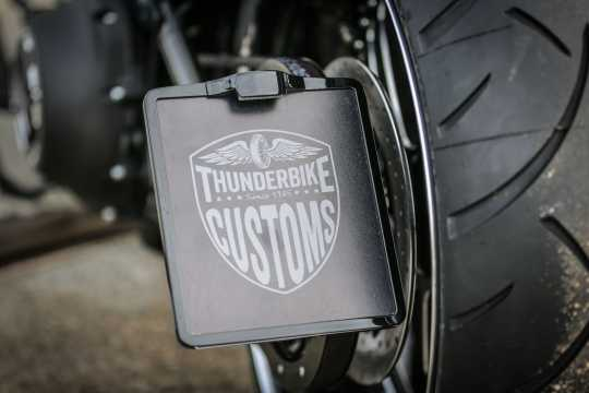 Thunderbike License Plate Lighting Down & Inside Plate black matt - 43-99-440
