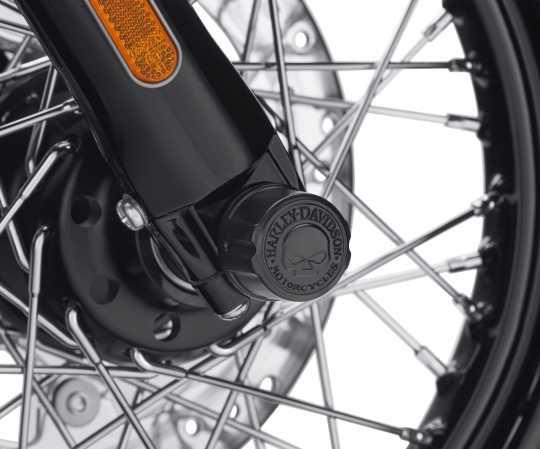 Harley-Davidson Mutternkappen für Vorderachse Willie G. Skull schwarz  - 43000096