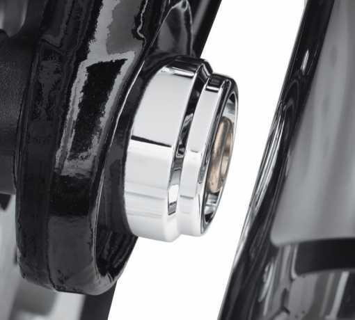 Harley-Davidson Achsmutter Cover hinten chrom  - 43000108