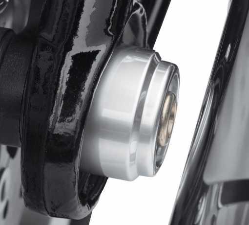 Harley-Davidson Kappen für Hinterachsmuttern matt chrom  - 43000111