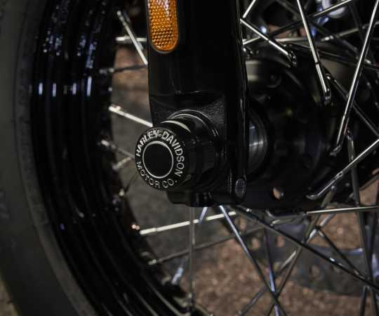 Harley-Davidson H-D Motor Co. Achscover vorne schwarz  - 43000177