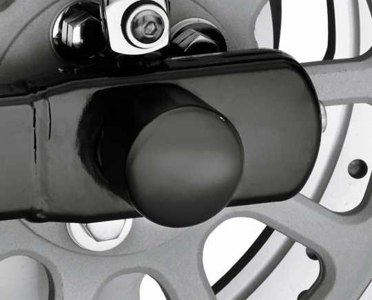 Harley-Davidson Rear Axle Nut Cover Kit, gloss black  - 43422-09