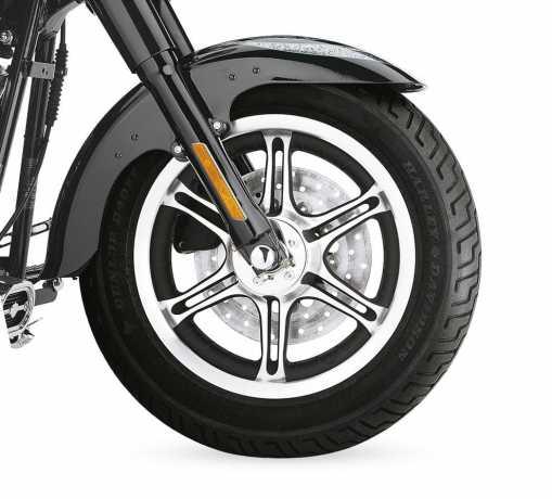 """Harley-Davidson Slotted 6-Speichen-Rad 16"""" vorne texturschwarz  - 43919-07"""