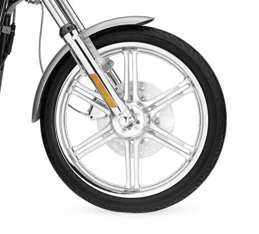 "Harley-Davidson Slotted 6-Spoke Wheel 19"" Front Textured Chrome  - 44058-07"