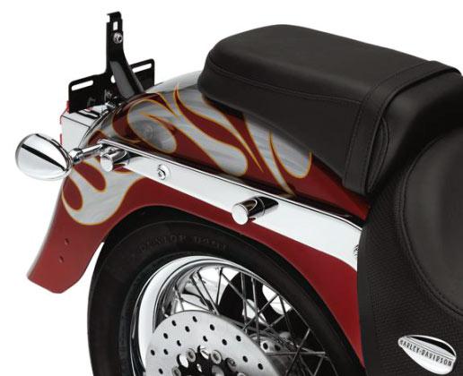 Harley-Davidson Abdeckungen für hintere Befestigungspunkte kurz chrom  - 48218-10