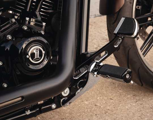 Harley-Davidson Defiance Rider Footpegs with Removable Wear Peg black cut  - 50500807