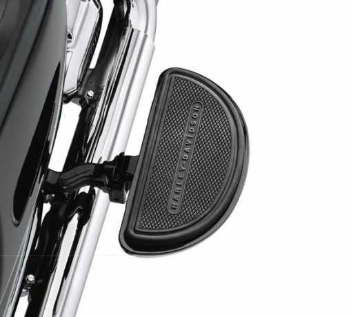 Harley-Davidson Half-Moon Passenger Footboard Pans Gloss Black  - 50810-08
