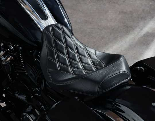 "Harley-Davidson Low-Profile Solo Sitz 15"" Diamond schwarz  - 52000248"