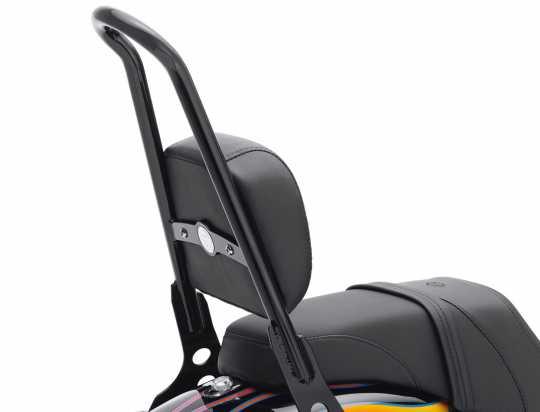 Harley-Davidson Sozius Rückenpolster Leder schwarz glatt  - 52631-07