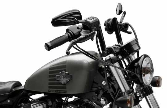 "Harley-Davidson Chizeled Lo Handlebar 4"" gloss black  - 55800431"