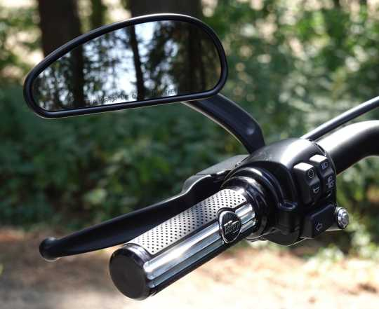 Harley-Davidson Defiance Hand Grips, black cut  - 56100175