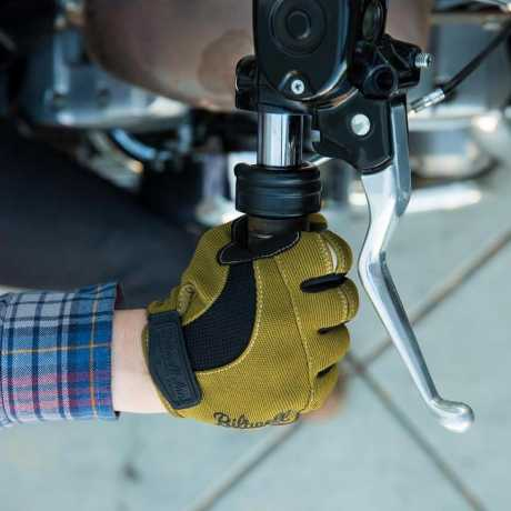 Biltwell Biltwell Moto Handschuhe oliv / schwarz / tan M - 567160