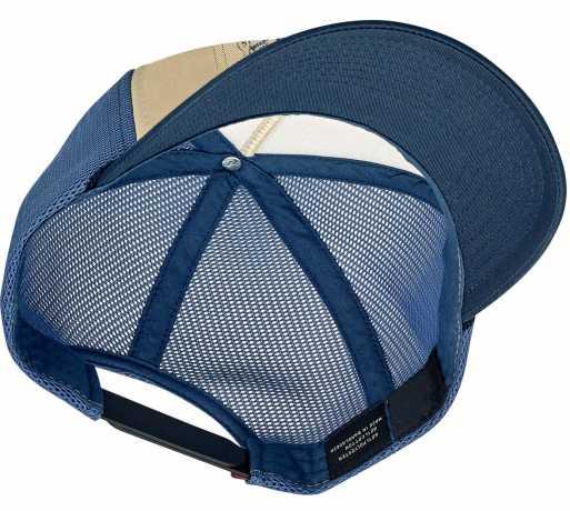 Biltwell Bittwell 4 Cam Snapback Cap Blue/Beige  - 574595