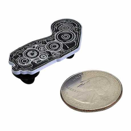 Biltwell Biltwell Enamel Pin 4 Cam schwarz/weiß  - 576085
