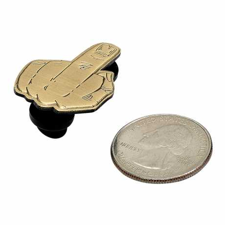 Biltwell Biltwell Enamel Pin Finger Antique Brass  - 576086
