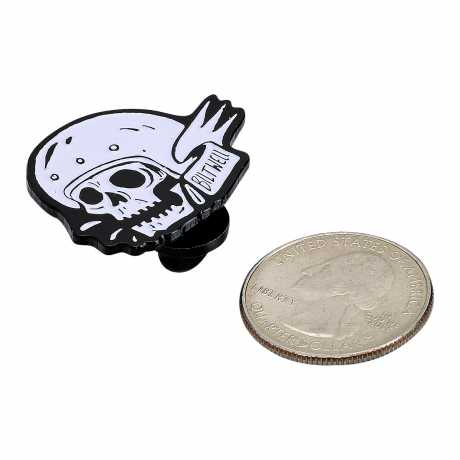 Biltwell Biltwell Enamel Pin Skull White/Black  - 576088