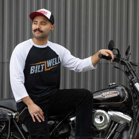 Biltwell Biltwell Bolts Raglan 3/4 Shirt black/white  - 576289V