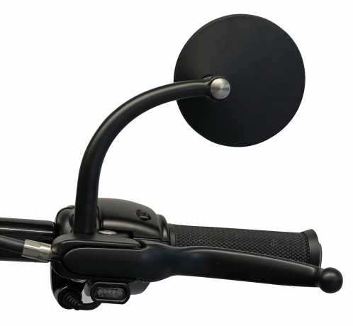 Biltwell Biltwell Utility Round Mirror Set black ECE  - 576336