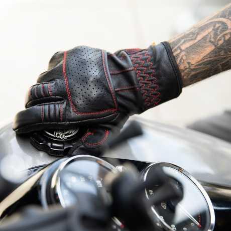 Biltwell Biltwell Borrego Gloves Black/Redline  - 581290V