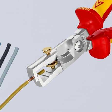 Knipex Knipex StriX® Abisolierzangen mit Kabelschere 180mm VDE  - 581956
