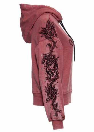 King Kerosin Queen Kerosin Rose Face Hoodie burgund rot  - 592542V