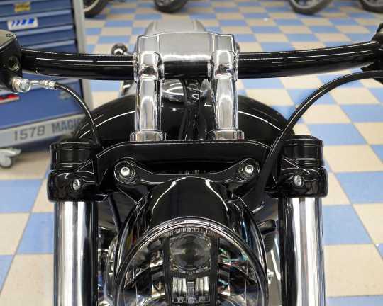 Thunderbike Fork end cap upper, black  - 61-74-120