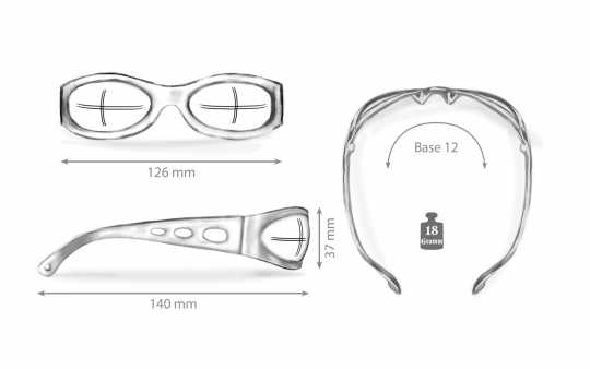 Helly Helly Bikereyes Glasses Pro Street clear  - 61-9223