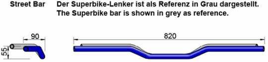 """LSL LSL Street Bar Lenker 1""""  - 61-9263V"""