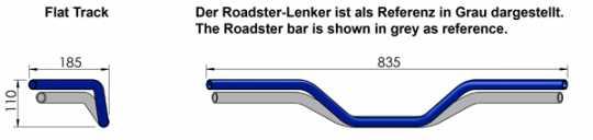 "LSL LSL Flat Track Handlebar 1"" chrome - 61-9267"