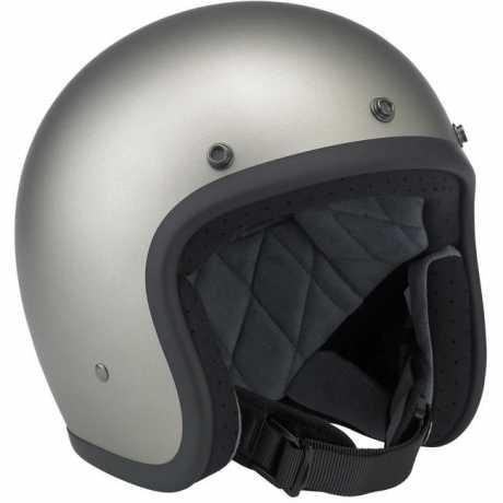 Biltwell Biltwell Bonanza Helmet Flat Titanium DOT  - 61-9323V