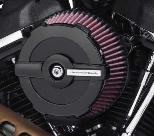 Harley-Davidson Screamin' Eagle Runde Luftfilterabdeckung Ratchet, schwarz  - 61300845