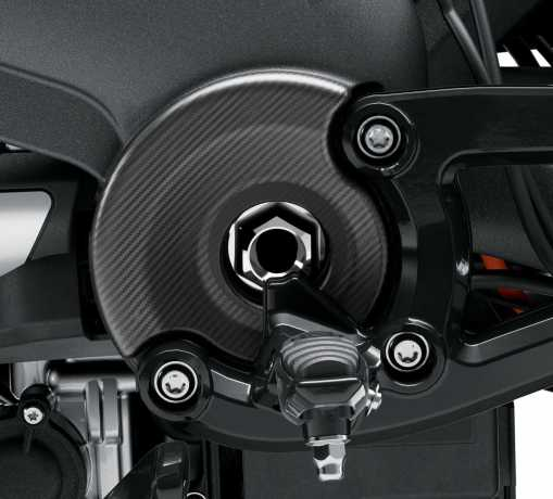 Harley-Davidson Transmission Accent Covers Carbon  - 61301071