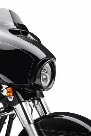"""Harley-Davidson Zierschirm für 7"""" Visor Style Scheinwerfer schwarz  - 61400292"""