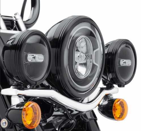"Harley-Davidson Defiance Auxiliary Lamp Trim Rings 4"" black  - 61400354"