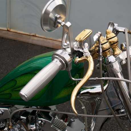 Kustom Tech Kustom-Tech Deluxe Line Master Cylinder 12 mm | Alu / brass polished - 65-2803