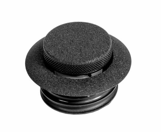 Custom Chrome Screw-In Style Pop-Up Gas Caps vented & dummy, black  - 60-0247