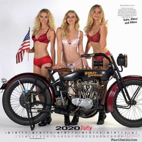Custom Chrome Custom Chrome Garage Girls Calendar 2020  - 65-3411