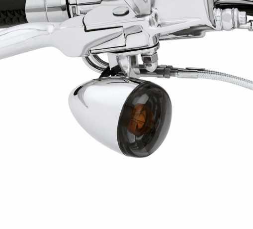 Harley-Davidson Bullet Turn Signal Lens Kit Smoked  - 69208-09